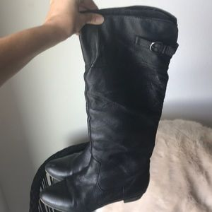 Steve Madden Craave Riding Boots Size 8.5 Black